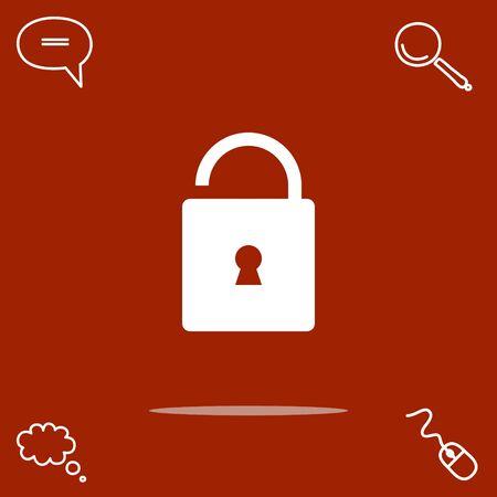 Unlock vector icon.