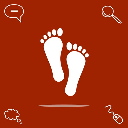 toes: foot vector icon