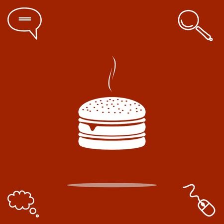 calorie: burger vector icon