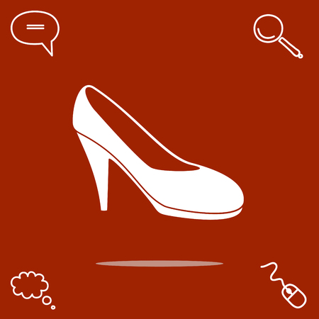 womens shoe vector icon