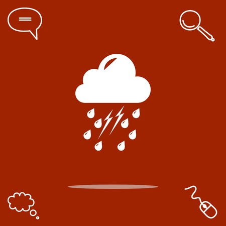 bolt: weather vector icon