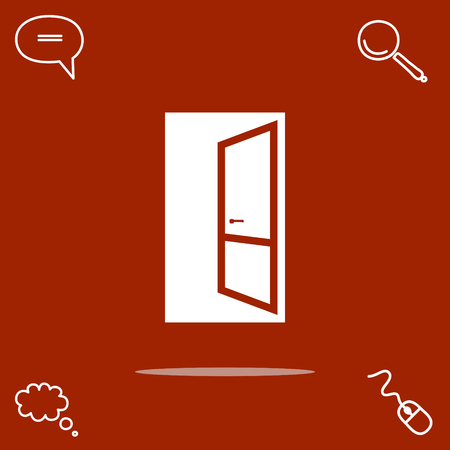open door vector icon