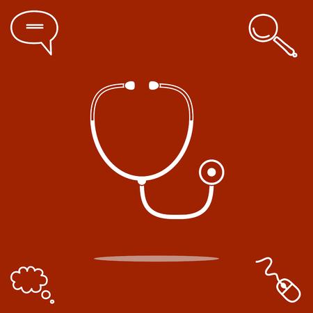 Stethoscope vector icon Illustration