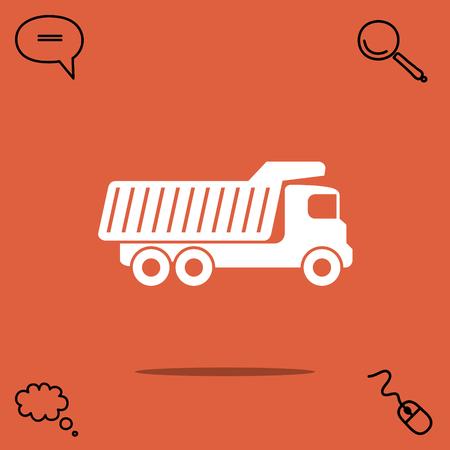 dumper: Dump truck vector icon Illustration