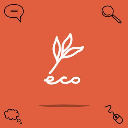 tree isolated: Eco vector icon