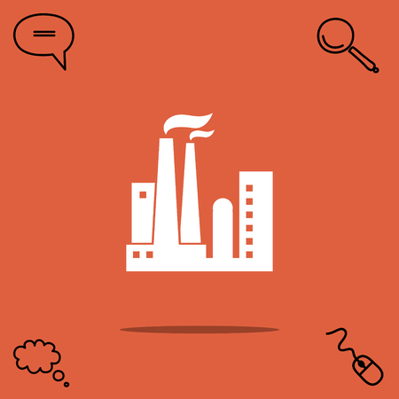 Industrial plant vector icon