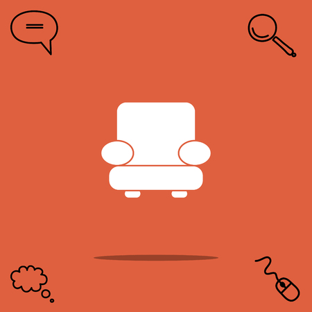 furniture: Easy chair vector icon