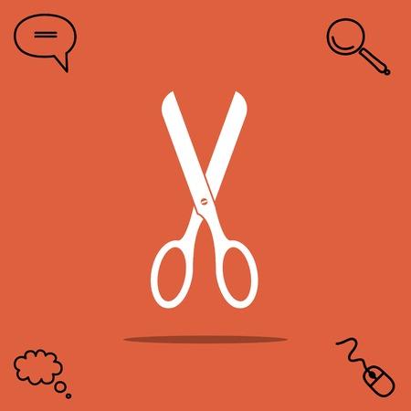 Scissors vector icon