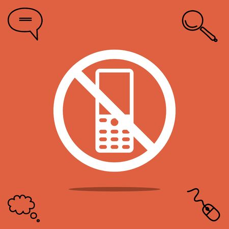 banned: Turn off phone vector icon