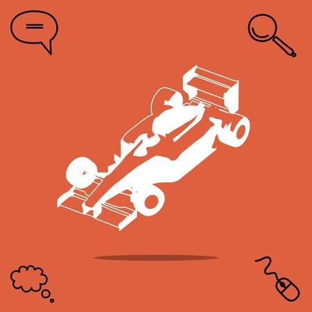 Sports car vector icon