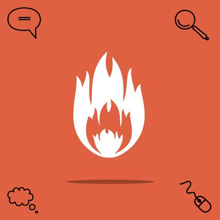simple frame: Fire vector icon Illustration