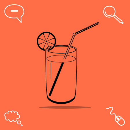 coldly: Cocktail vector icon