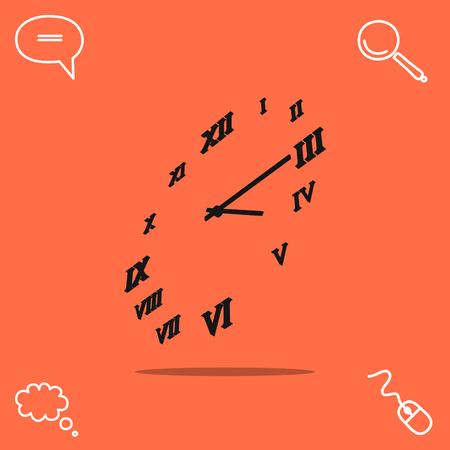 24: Clock vector icon Illustration