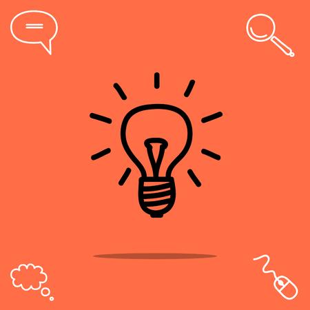 illuminate: Light bulb vector icon Illustration