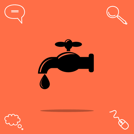 cleanliness: Faucet vector icon Illustration