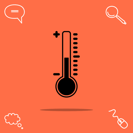 freeze: Thermometer vector icon