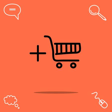 Shopping chart vector icon Illustration