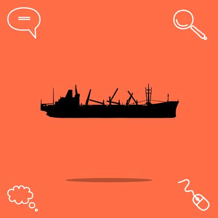 Ship vector icon Illustration