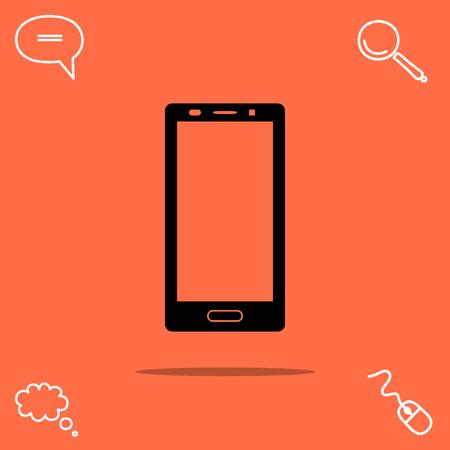 touchscreen: smartphone vector icon