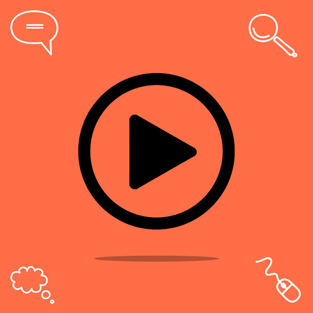 pause button: play button vector icon