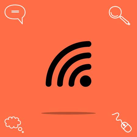 Rss vector icon Illustration
