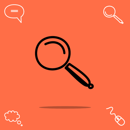 inspect: Magnifying glass vector icon