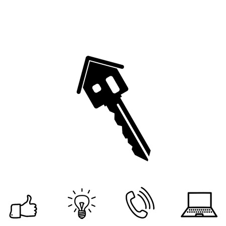 house key vector icon Illustration