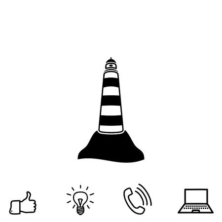 coastal: beacon vector icon