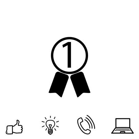 quality guarantee: award vector icon