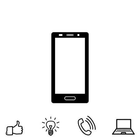 A smartphone vector icon Illustration