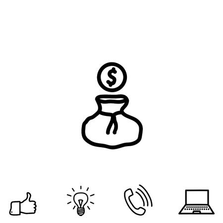 financial item: A money vector icon Illustration