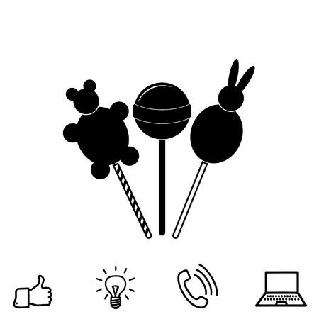 A lollipop vector icon