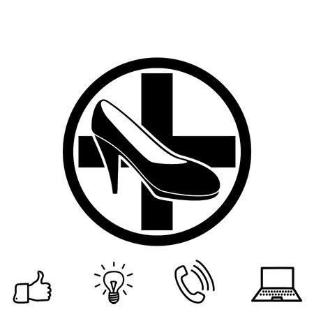 Repair footwear vector icon