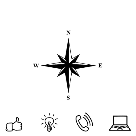 compass rose: wind rose vector icon Illustration