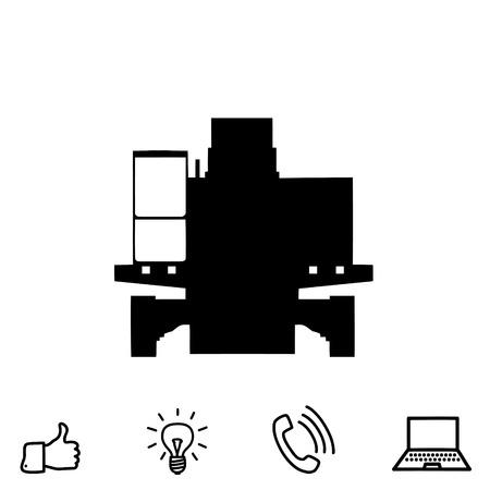 pail: Excavator vector icon