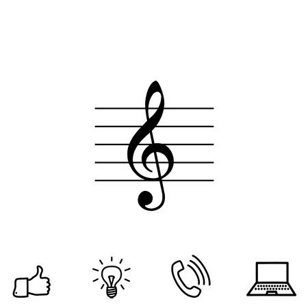 Musica icone vettoriali chiave Archivio Fotografico - 80939794