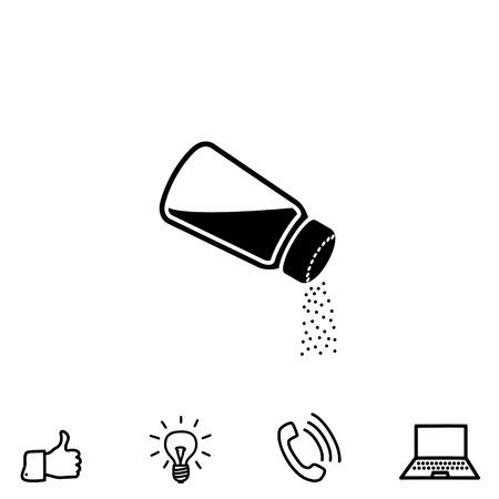 salt free: Salt vector icon