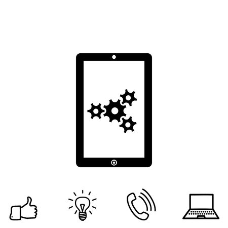 Adjustments of touch pad vector icon Illustration