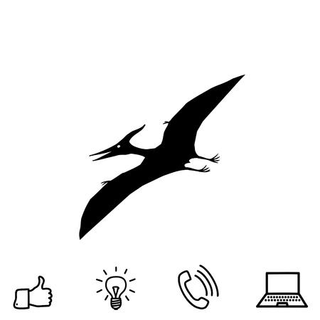 pterodactyl: Pterodactyl vector icon Illustration