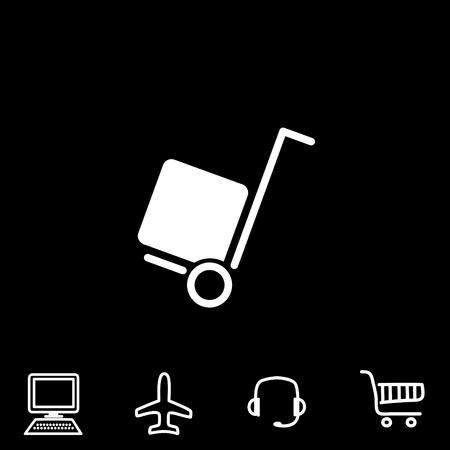 A delivery vector icon.