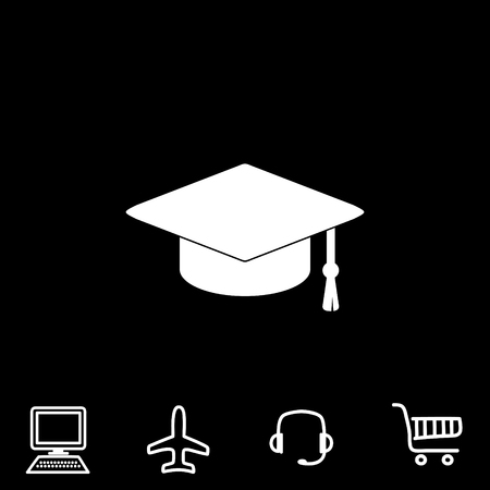 Graduate vector icon. Vector illustration.