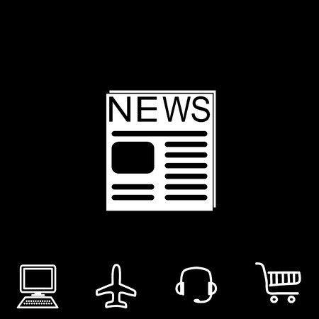reportage: News vector icon. Vector illustration.
