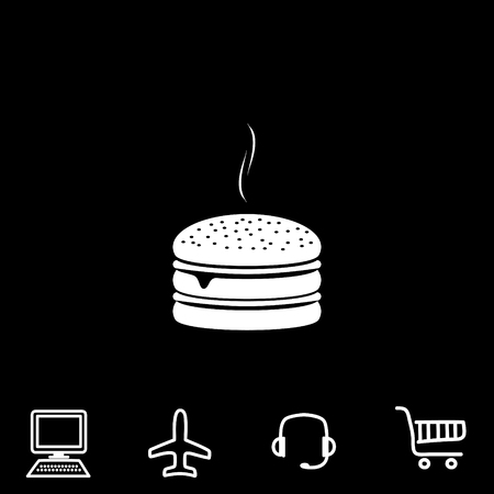 calorie: Burger vector icon. Vector illustration. Illustration