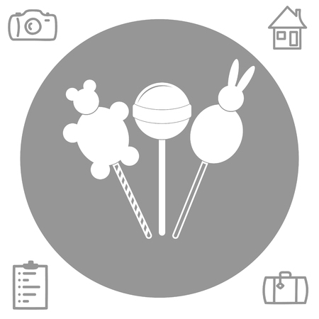 confection: lollipop vector icon