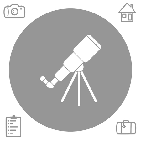 observation: telescope vector icon