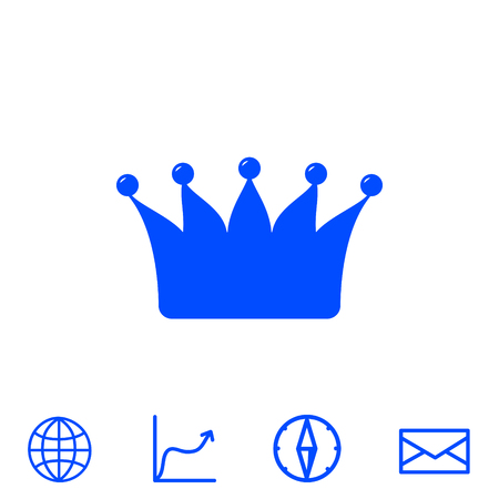authority: crown vector icon