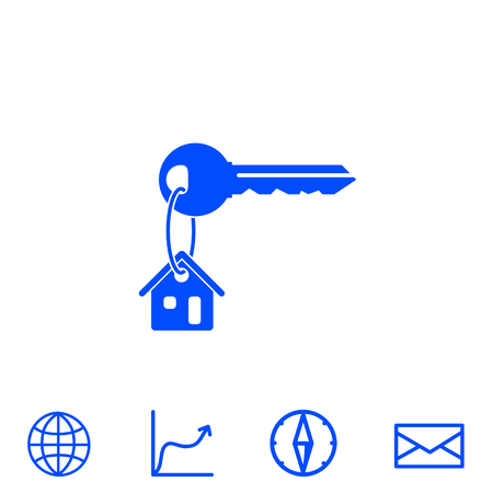 house key vector icon Ilustrace