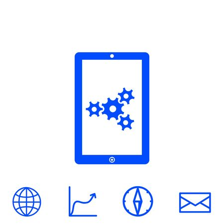 configure: adjustments of touchpad vector icon