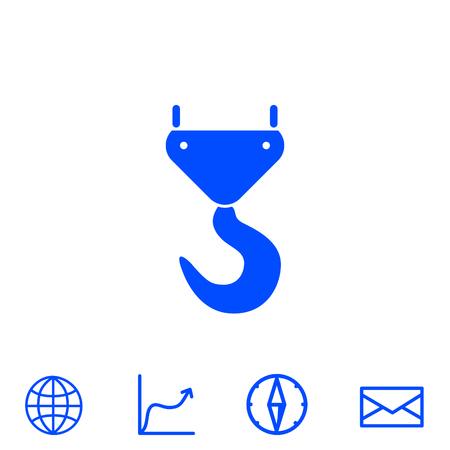 Icône de vecteur de crochet de grue Banque d'images - 81449487