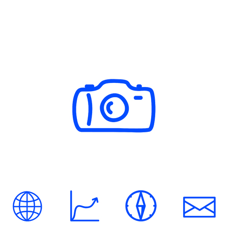 photographing: camera vector icon Illustration